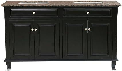 Bellaterra Home 603215 62dm Bg 62 Inch Double Sink Vanity Dark Mahogany Bathroom Vanities Amazon Com