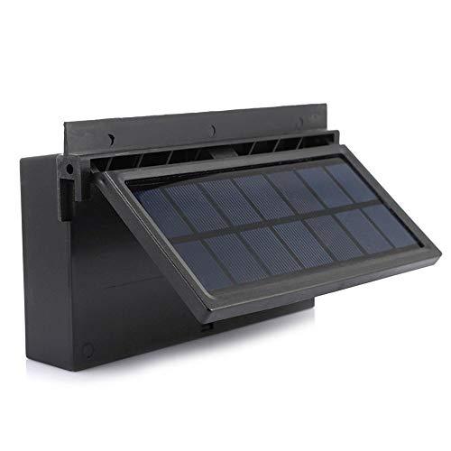 Ventilador solar, Ventanillas del coche Ventilaciones Extractor de aire Salida doble de aire Aire acondicionado Ventilador de enfriamiento Radiador de automóvil, Desodorización Desintoxicación,Black
