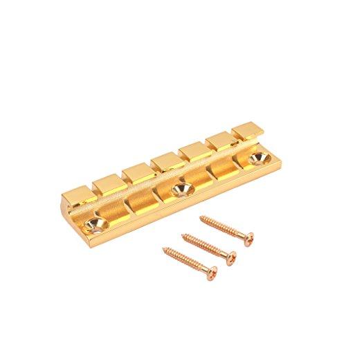 Alnicov Puente de sillín rígido fijo de metal de 6 cuerdas para...