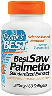 Doctor's Best Saw Palmetto Extract - 320 mg - 60 Softgels