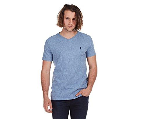 Polo Ralph Lauren Herren T-Shirt V-Ausschnitt Classic Fit - Blau - Klein