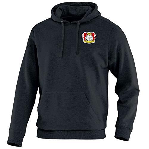 JAKO Herren Team Bayer 04 Leverkusen Kapuzensweat, schwarz, M
