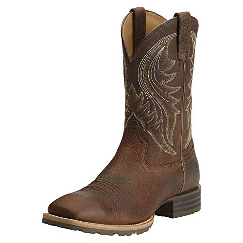 Ariat Men's Hybrid Rancher Western Boot, Brown Oiled Rowdy, 10.5