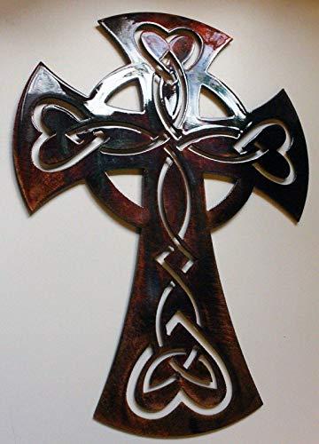 Celtic Ornamental Cross Metal Art Wall Decor 13' or 22'