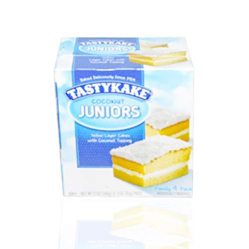 Tastykake TastyKake Coconut Juniors, Coconut Topped Snack Cakes, 4Count, 12 oz
