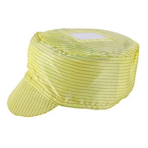 PRETYZOOM 5 stks Wegwerp Bouffant Caps Chirurgische Caps Haar Hoofd Cover Net voor Medische Dienst Voedsel Bakken Make-up Wit 25x18cm Geel