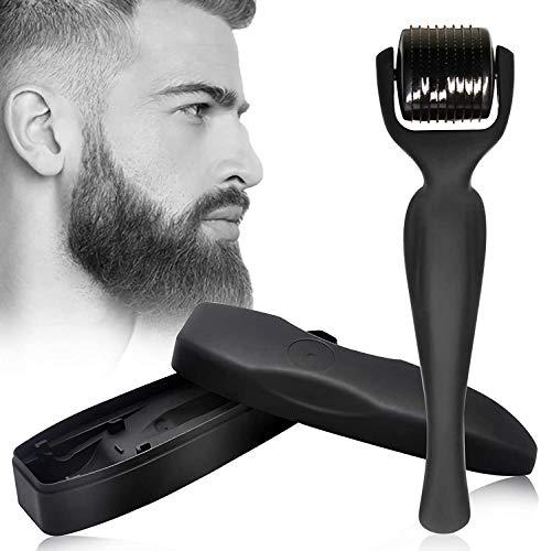 Derma Roller Beard Roller - Rodillo para barba de aleación de titanio de 0,5 mm para el crecimiento de la barba y el cabello, lo que puede traer una barba sexy.