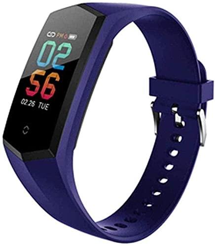 Smart Watch 0 96 pulgadas Ips de alta sensibilidad Full Touch pantalla Mensaje Recordatorio Deportes Pulsera inteligente para Android y Ios-Azul