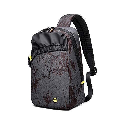 Boss Bag High School Studenten Waterdichte Sport en Vrije tijd Diagonale Schoudertas Man Bag Tide Merk Waterdichte Borst Pack (Kleur: Camouflage, Maat : L)