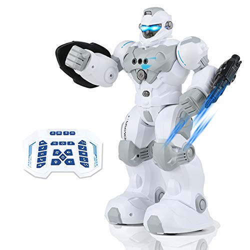 Kiticute Robot for Kids, Programmable Robot Toy with Intelligent Remote Control, Dancing, Singing, RGB Led Eyes, Gesture Sensing Machine Warrior Smart Robot, Gift for Boys Girls