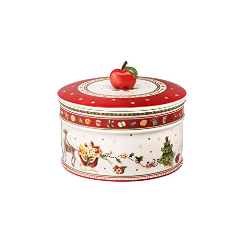 Villeroy & Boch Winter Bakery Delight Große Vorratsdose für Gebäck, Premium Porzellan, bunt