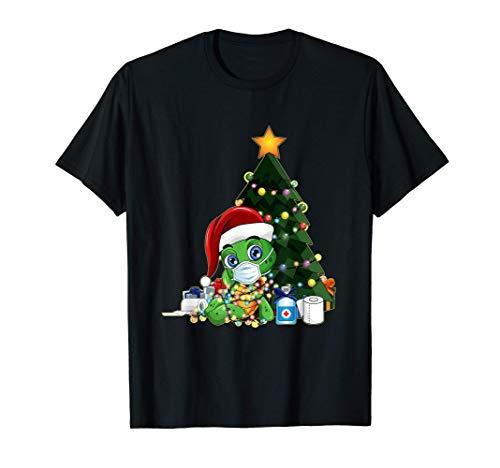 2020 Camisa De Cuarentena De Navidad Mascarilla De Santa Camiseta