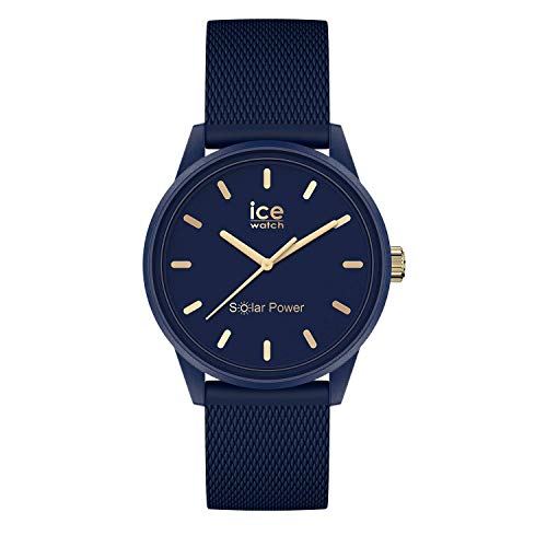 Ice-Watch ICE Solar Power Navy Gold Mesh - Reloj para Mujer con Correa de silicona, Azul, 018743 (Small)