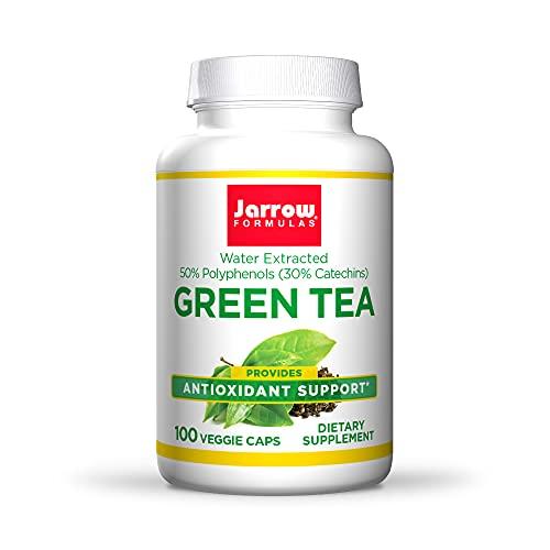 Jarrow Formulas Green Tea 500 mg, Antioxidant Support, 50% Polyphenols, Cardiovascular & Immune Health, White, 100 Count