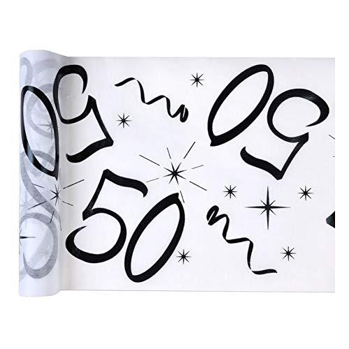 Chal - Chemin de table anniversaire 50 ans