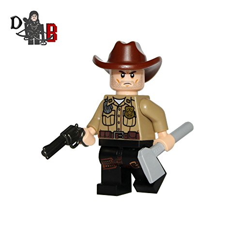 Demonhunter Bricks Custom The Walking Dead Rick Grimes mit Maßanfertigung Six Shooter und Hut