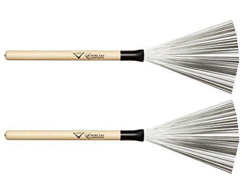 Blue ROSENICE Drum Brushes Drumstick Retractable Handles Brushes for Jazz Rock,One Pair