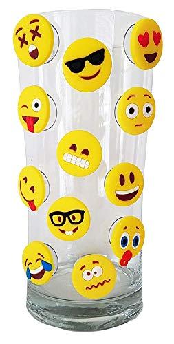 MLIAN Silikon-Weinglas-Marker Saugnapf, Party Weinglas Recognizer Silikon Weinglas-Charms für Party, 12 Stück, Zufällige Farbe