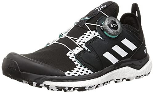 adidas Terrex Agravic Boa W, Zapatillas de Trail Running Mujer, NEGBÁS/FTWBLA/MENACI, 39 1/3 EU