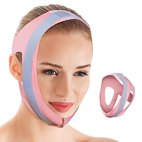 Chin Strap for Snoring [Newest 2021], Snoring Solution Anti Snore Devices Effective Stop Snoring Chin Strap for Men Women, Breathable and Adjustable Stop Snoring Head Band Sleep Aid, Pink