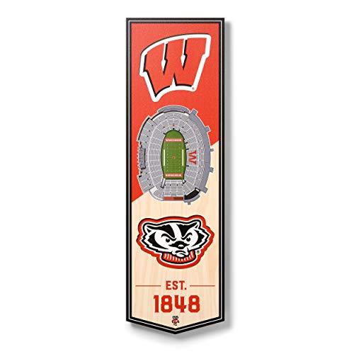 NCAA Wisconsin Badgers - Camp Randall Stadium 3D Banner, Team Colors, 6