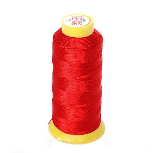 NDBBWG Hilo de Coser Tamaño 0,25 mm / 0,5 mm / 0,75 mm / 1,2 mm 7 Colores Hilo de cordón de Nudo Chino Hilo de Abalorios de Seda, para Manualidades de Costura de Hilo de Coser DIY, 6 retorcidos 480