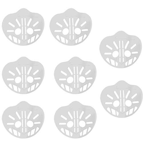 6 Stück-3D Silikon-Maskenhalterung, schützt Lippenstift, Lippen, interner Halter, Mehr Platz für bequemes Atmen,Geeignet für alle Arten von Masken
