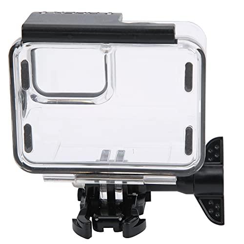 01 Carcasa para cámara, botón de Goma Suave a Prueba de Agua, Carcasa portátil para cámara de Profundidad de 40 m, Carcasa para Nadar