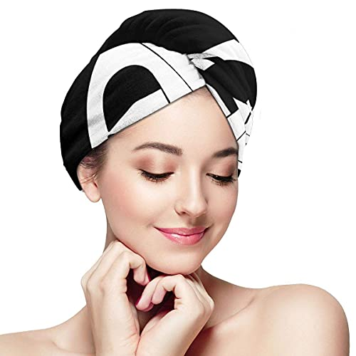 Toalla de secado de pelo para mujer con botón para acampar está en tiendas de campaña suave absorbente de microfibra envuelta para cabello largo y rizado