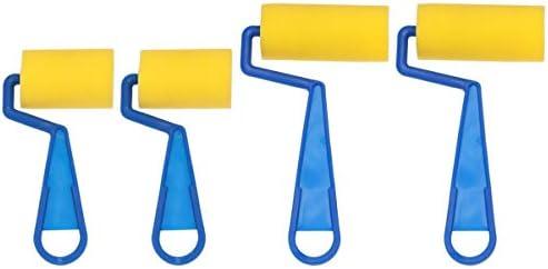 NUOBESTY Painting Foam Brush Roller 4pcs DIY Art Painted Sponge Brushes Childrens Paint Foam product image