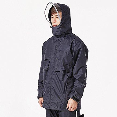 QFFL Imperméable Raincoat Rain Pantalon Costume Adulte équitation Imperméable Split Poncho Imperméable 4 couleurs Taille optionnelle imperméable ( Couleur : Bleu marin , taille : XXL )