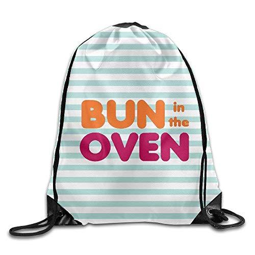 Bun in The Oven Gym Trekkoord Rugzak Unisex Draagbare Zak
