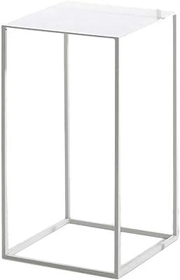 mesas de Centro Modernas Mesa de Centro Moderna de Metal Dorado pequeño y pequeño, mesita de Noche, Mesa de Centro, Bandeja de mármol Natural Blanco, Adecuado para Sala de Estar, Espacio pequeño,