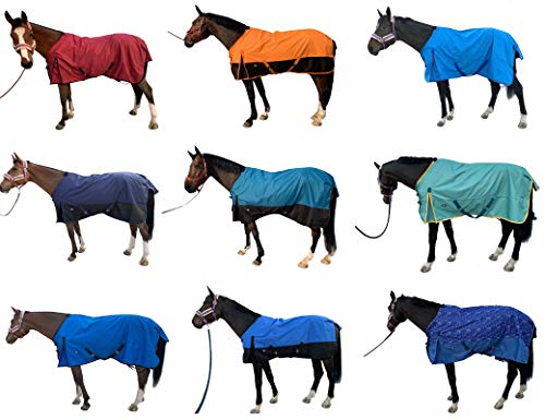 TGW RIDING 1200Denier Waterproof and Breathable Horse Sheet Horse Blanket (74', Turquoise)