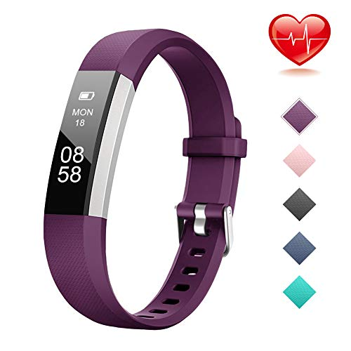 Lintelek Fitness Tracker, Activity Tracker with Heart Rate Monitor, IP67 Waterproof Step Counter, Calorie Counter, Pedometer for Women, Men and Gift