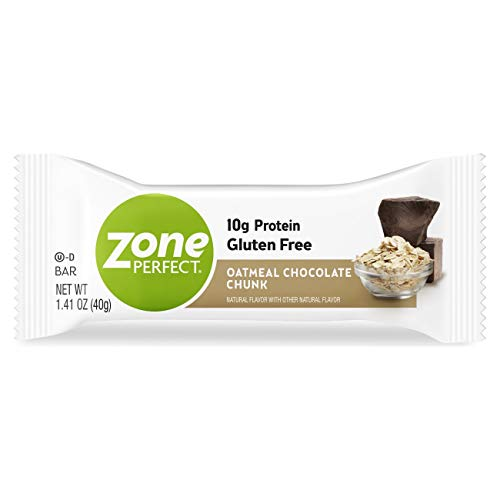 Zone Perfect Protein Bar, High Protein, With Vitamins & Minerals Oatmeal Chocolate Chunk 1.41 oz, 20 Count