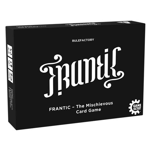 Game Factory 646226 Frantic-The Mischievous Card Game, Kartenspiel, englische Version, schwarz, weiß