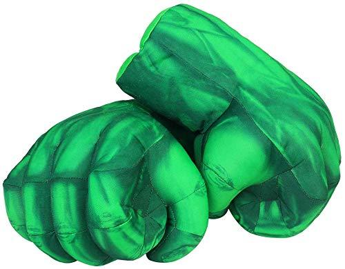 Yxaomite 1 Paar Hulk Handschuhe Lustig Boxhandschuhe Hulk Film Superheld Plüsch Faust Boxen Spielzeug Cosplay Kostüm Geburtstag Geschenk zum Spass Spielzeuge Kinder The Avengers 30 cm-Grün