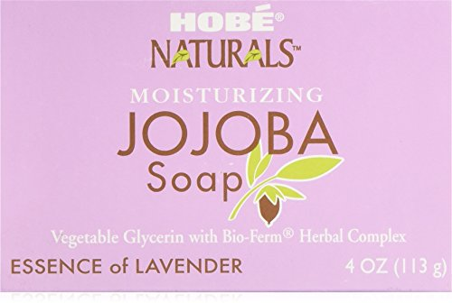 Moisturizing Jojoba Soap, Essence of Lavender, 4 oz (113 g) - Hobe Labs