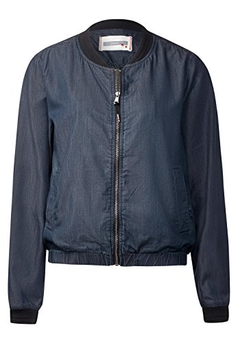 CECIL - Lässiger Denim Look Blouson in Mid Blue Wash - Größe S