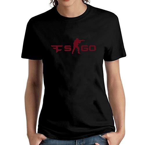 HAIZHENY Mujer Faze Clan Logo Cotton Camiseta/T-Shirt tee XX-Large