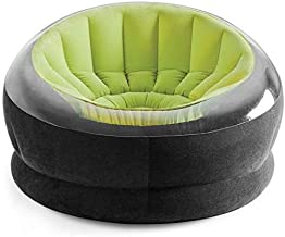 Intex 68582 Inflatable Empire Chair with air pump, Green/Black