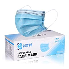 Package: 50 Pcs 3ply disposable face mask packaged in a box 3-ply design, with a melt-blown polypropylene filtration layer. How to use: Remember 1. Keep the blue-side outside 2.Keep the nose clip on the upper side. You won't be wrong. This is a gener...