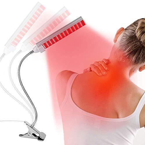 EFGSbed Rotlichtlampe Mit Ständer, TDP Infrarotlichtlampe, Beauty Lampe 360 ° Verstellbarer, Professionelle LED-Lichttherapie-Lampen Für Haut-Und Schmerzlinderung, Anti-Aging