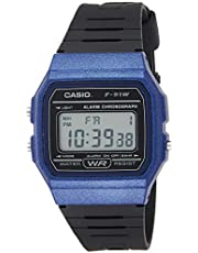 Casio Men's F-91WM-2ADF Digital Watch Resin Blue