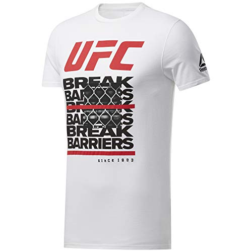 Reebok UFC FG Capsule tee Camiseta, Hombre, Blanco, 2XL
