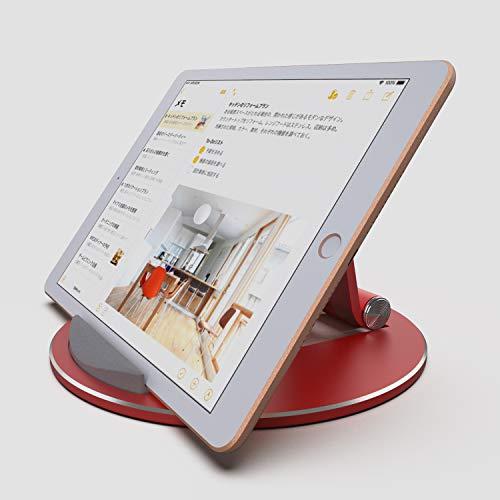 """【超安定】タブレット スタンド ipad スタンド スマホ スタンド iphone スタンド 卓上 角度調整可能 アルミ合金素材 OBENRI Tablet Stand Designed for iPad Pro Air Mini iPhone XS MAX XR XS X 8 Plus Nintendo Switch Kindle & All Devices (4~13"""")"""