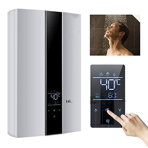 Stoge 16L 24KW Instant-Erdgas-Warmwasserbereiter Wand-Temperatur-Konstant-Warmwasserkessel mit LED-Touch-Display/Duschkopf-Kit