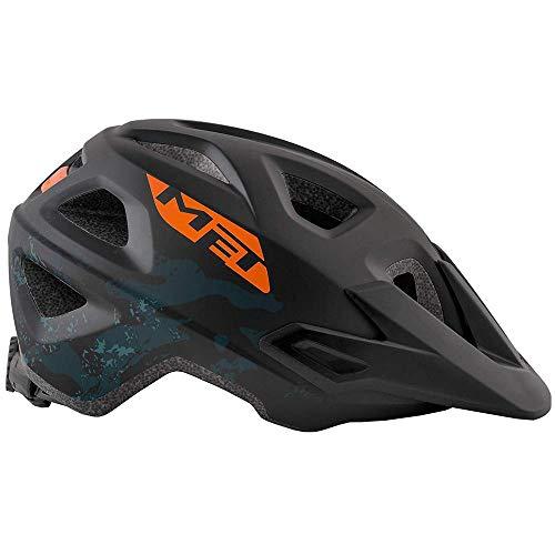 Met Casco Eldar nero arancione M(52-57) Ciclismo Unisex Adulto, Multicolore