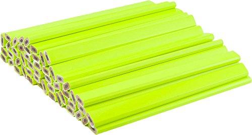 Neon Yellow Carpenter Pencils - (72) Count Bulk Box - Ten Color Choices, 2 Lead